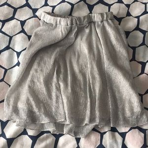 Children's place sparkly silver skirt